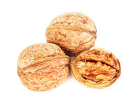 Dried Walnuts Isolated