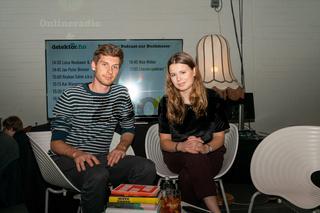 FRANKFURT AM MAIN, Germany - October 19 2019: Alexander Repenning and Luisa Neubauer at 71st Frankfurt Book Fair / Buchmesse Frankfurt