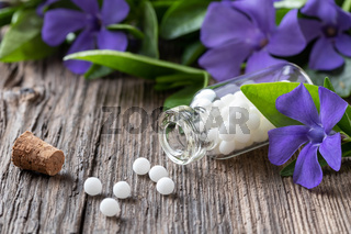 A bottle of vinca minor homeopathic remedy