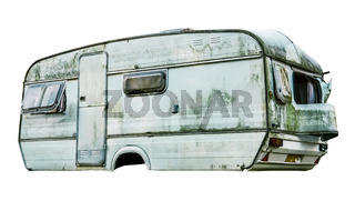 Isolated Dirty Caravan