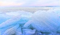 Beautiful frozen lake - Hungary
