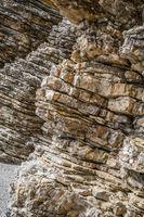 Pancacke like rock formations near Budva