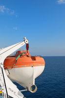 life boats on big ship