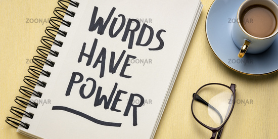Words have power - inpirational note
