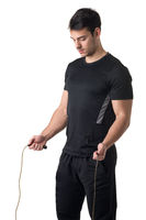 Fit Male Jumping Rope