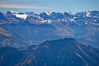 Alps in Switzerland near Pilatus mountain view