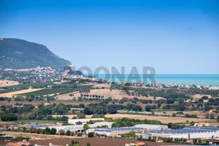 ocean landscape scenery in Italy Marche