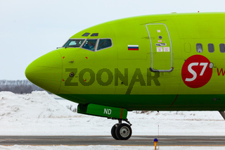 Boeing S7 Airlines on the runway