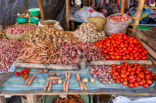 fresh vegetables at the marketplace, Madagascar
