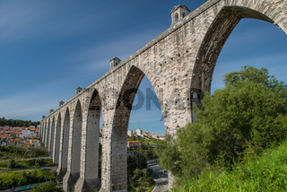 The Aqueduct Aguas Livres Portuguese: Aqueduto das Aguas Livres Aqueduct of the Free Waters is a historic aqueduct in the city of Lisbon, Portugal