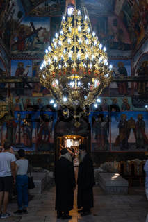 The Bachkovo Monastery of the Dormition of the Theotokos. Interior of the Cathedral Church.