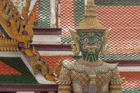 Close-up of Grand Palace guardian giant statue