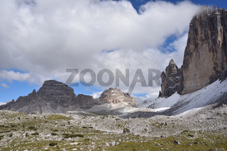 Paternkofel/Mount Paterno und den Drei Zinnen