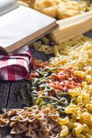 Various types of italian pasta.