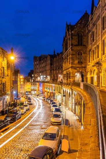 Edinburgh old town Sunset