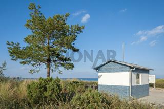 Dünenlandschaft zwischen Strand und Strandpromenade in Niendorf