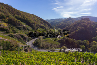 Blick ins Ahrtal vom Rotweinwanderweg