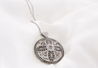 White Gold Necklace With White And Chocolate Diamonds