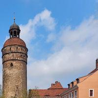 Nicolaiturm in der Altstadt von Görlitz, Sachsen, Deutschland