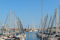 Sailboats in French in harbour