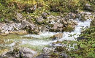 Rauschender Wildbach, Herbst