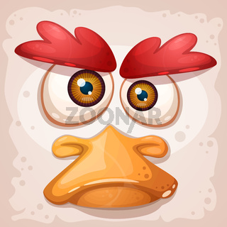 Chicken, a duck, an insane bird is a funny illustration.