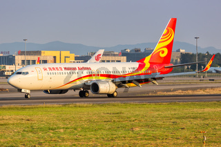Hainan Airlines Boeing 737-800 airplane Guangzhou airport