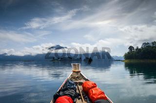 Canoe trip on Cheow Lan Lake, Khao Sok, Thailand