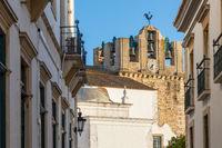 Blick zur Kathedrale, Faro, Portugal, Europa