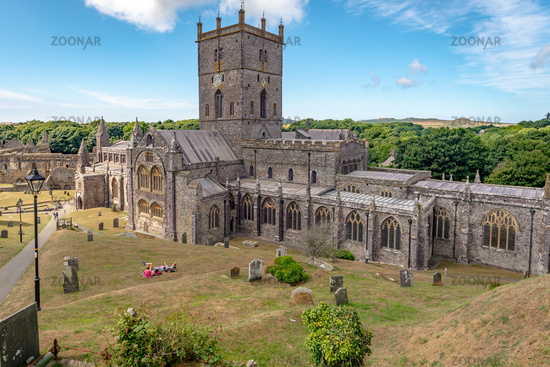 Overview of St. Davids Cathedral, Wales