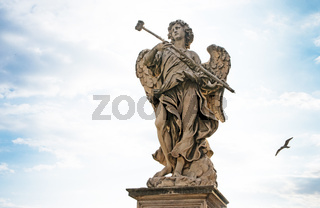 Bernini's marble statue of angel from the Sant'Angelo Bridge in Rome