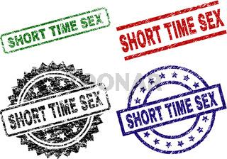 Grunge Textured SHORT TIME SEX Stamp Seals