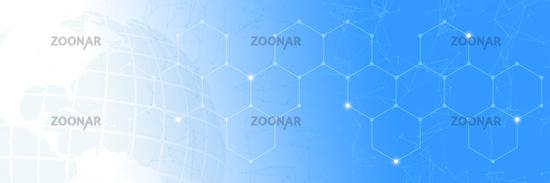Globalisierung und Technologie Netzwerk Konzept