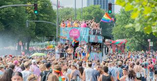 Christopher street day. Love parade in Hamburg