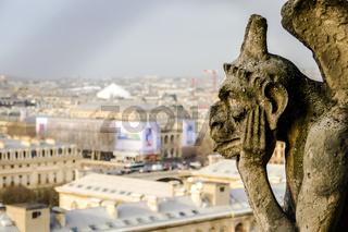 Notre Dame de paris Church cathedral detail, Photo image a Beautiful panoramic view of Paris Metropolitan City