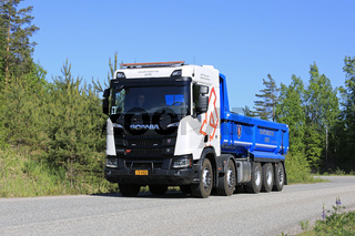 New Scania R520 XT Tipper Truck on Road