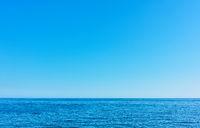Sea horizon and clear blue sky