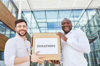 Box als Symbol für eine Spendenaktion