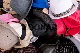Multiple hat styles.