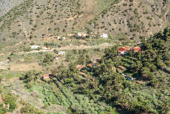 Das kleine Dorf Tamargada im Norden der Insel La Gomera