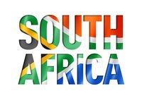 south africa flag text font
