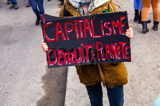 French poster at environmental protest