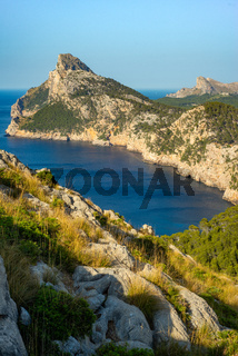 View of Formentor Peninsula and Azure Mediterranean Sea on the Balearic Island of Mallorca