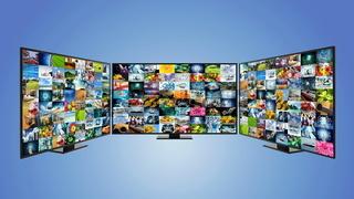 Internet broadband and smart TV concept
