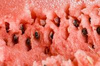 sliced red juicy watermelon