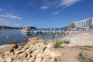 The Dragon ferry boat coastal landscape Santa Ponsa Mallorca