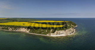 Aerial view of Cape Arkona on the island of Ruegen in Mecklenburg-Vorpommern
