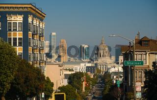 City Hall Buidling Down Fulton Street San Francisco California