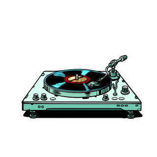 vinyl record player. isolate on white background
