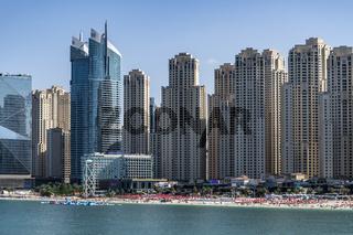 The Hilton Dubai Jumeirah Hotel and the Al Fattan Crystal Towers, Dubai, UAE